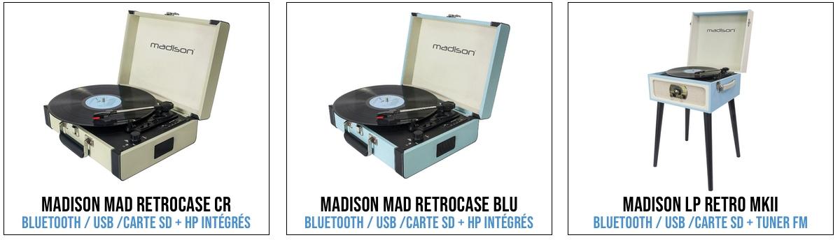 platine vinyle vintage bluetooth