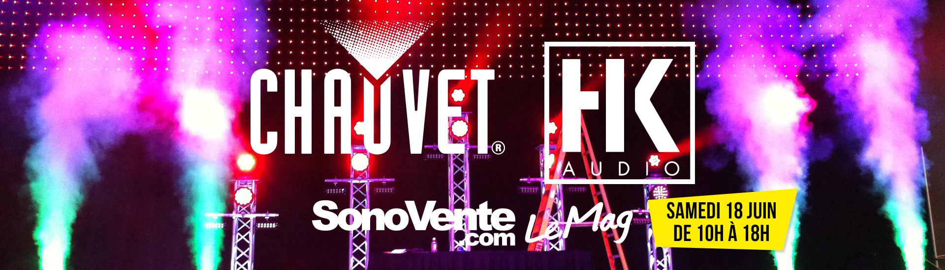 Banniere Chauvet + HK Audio