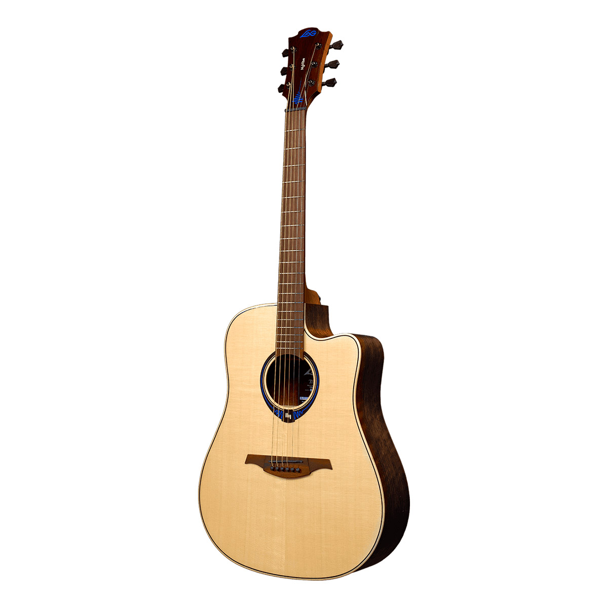 Guitare folk electro Lâg THV20DCE Tramontane HyVibe Glossy