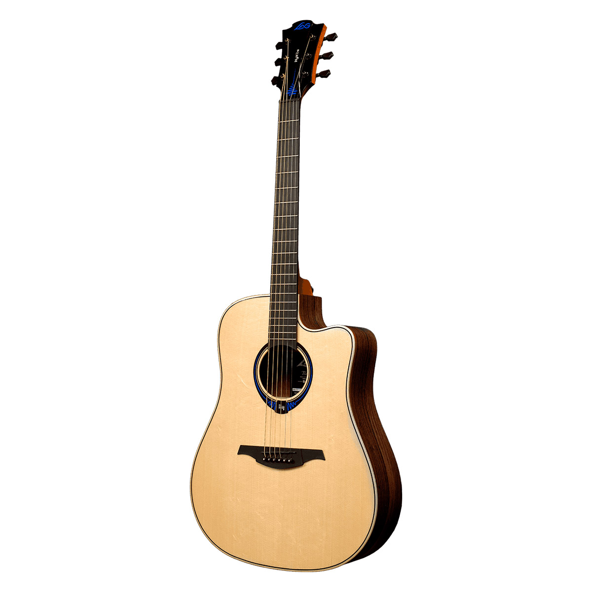 Guitare folk electro Lâg THV30DCE Tramontane HyVibe Glossy