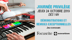 Evenement magasin Novation Focusrite
