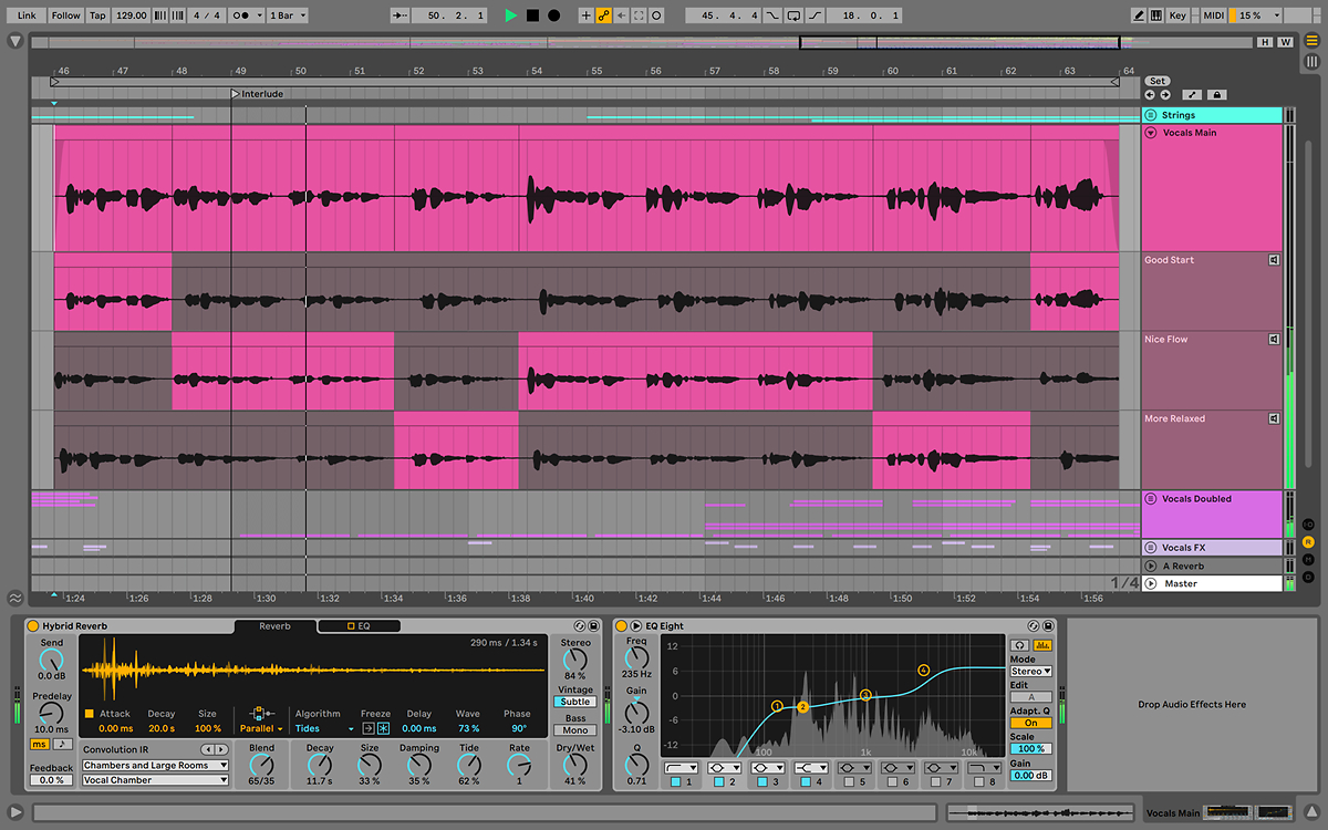ableton live 11 linked track