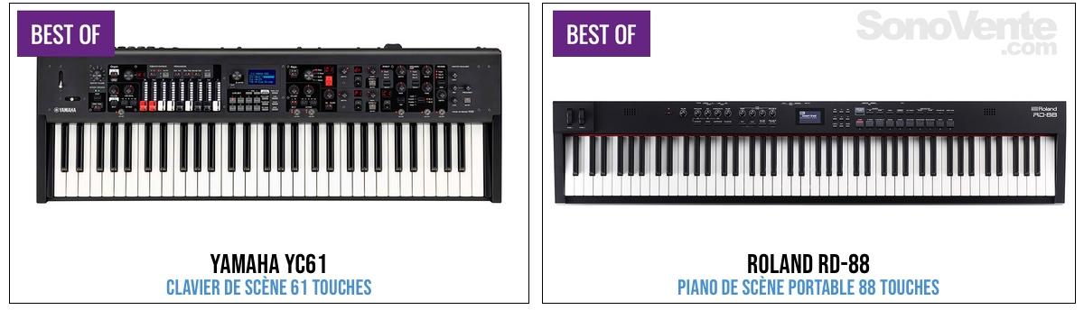 meilleur piano de scene 2020