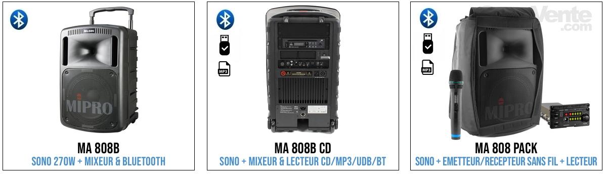mipro ma808 sono sans fil professionnelle