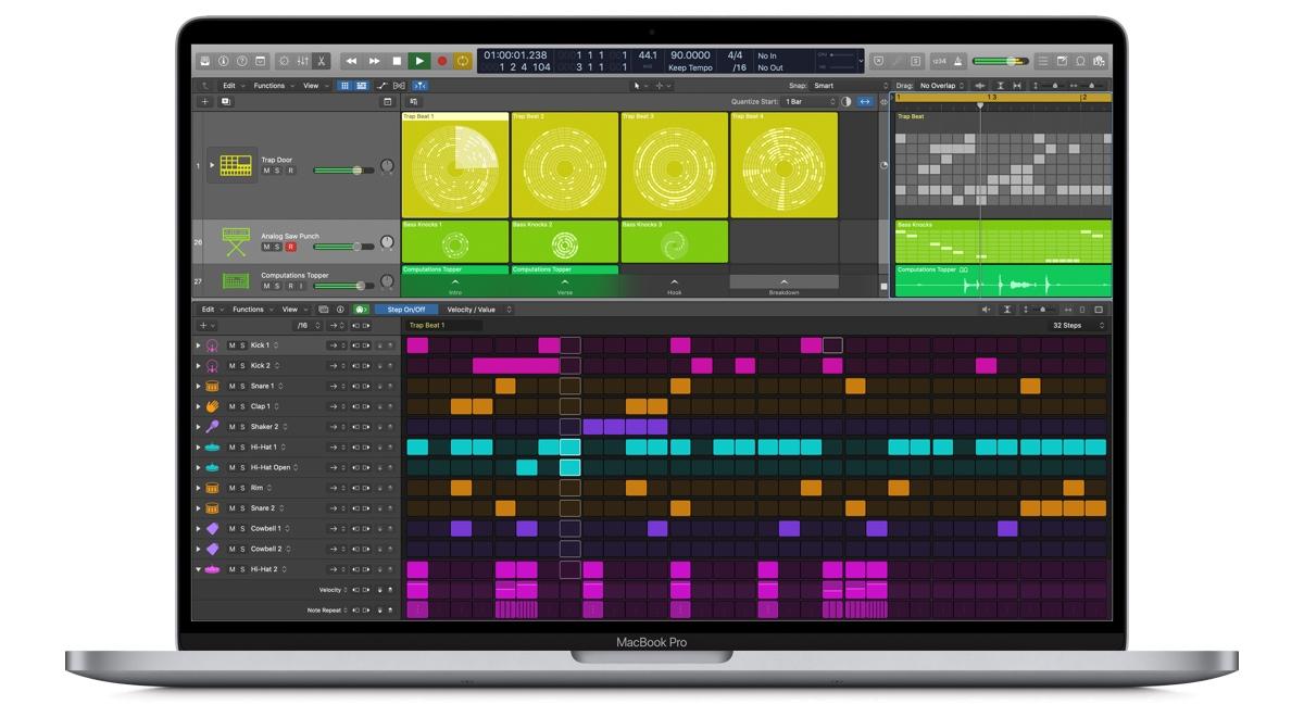 apple logic pro update step sequencer