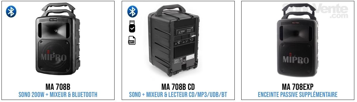 mipro ma-708 sono portable