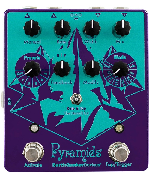 pedale flanger pyramids stereo