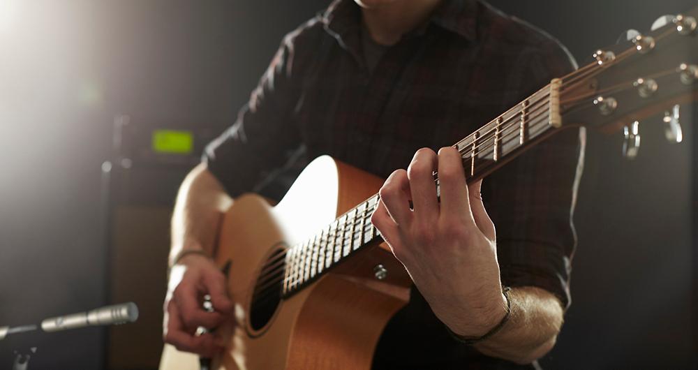 shure sm81 sur guitare acoustique