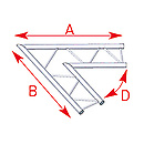 ASD57AEX21 / Angle 2 départs 60°  lg 1m00 x 1m00