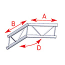 ASD57AEX25 / Angle 2 départs 135°  lg 0m50 x 0m50