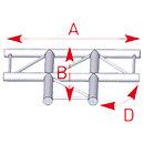 ASD57AEX33 / Angle 3 départs 90° à plat lg 0m50 x 0m71