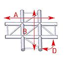 ASD57AEX41 / Angle 4 départs 90° à plat lg 0m71 x 0m71