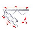 ASD57AEX21V / Angle 2 départs 60°  lg 1m00 x 1m00
