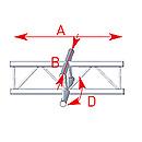 ASD57AEX41V / Angle 4 départs 90° à plat lg 0m71 x 0m71