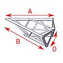 ASD57ASD1520 / Angle 2 départs 45°  lg 0m40 x 0m40