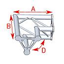 ASD57ASD22 / Angle 2 départs 90°  lg 0m40 x 0m40
