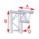 ASD57ASX23 / Angle 2 départs vertical 90° pied lg 0m50 x 0m50