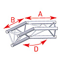 ASD57ASX25 / Angle 2 départs 135° lg 0m50 x 0m50