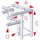 ASD57ASX32 / Angle 3 départs 90° pied gauche lg 0m50 x 0m50 x 0m50