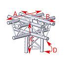 ASD57ASX51 / Angle 5 départs 90°pied lg 0m50 x 0m71 x 0m71