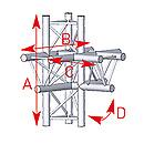 ASD57ASX52 / Angle 5 départs 90° pied lg 0m745 x 0m50 x 0m71