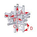 ASD57ASX61 / Angle 6 départs 90° pied  lg 0m745 x 0m71 x 0m71