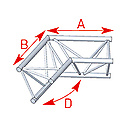 ASD57ASX4024 / Angle 2 départs 120° lg 0m60 x 0m60