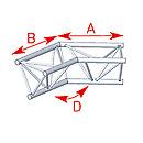 ASD57ASX4025 / Angle 2 départs 135°  lg 0m60 x 0m60