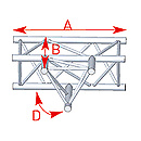 ASD57ASX4033 / Angle 3 départs 90° à plat  lg 0m81 x 0m60