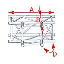 ASD57ASZ4033 / Angle 3 départs 90° à plat lg 0m81 x 0m60
