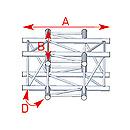 ASD57ASZ4041 / Angle 4 départs 90° à plat lg 0m81 x 0m81