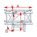 ASD57ASZ4042 / Angle 4 départs 90° pied lg 0m81 x 0m60 x 0m60
