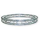 ASD57CC15250 / Cercle section structure alu carrée 150 Diamètre 2m50 extérieur