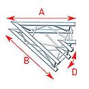 ASD57ASC3020 / Angle 2 départs 1m00 x 1m00