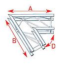 ASD57ASC3021 / Angle 2 départs 1m00 x 1m00