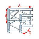 ASD57ASC3022 / Angle 2 départs 0m50 x 0m50