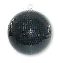 IbizaMB008BL Boule à facettes noire 20cm