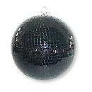 IbizaMB012BL Boule à facettes noire 30cm