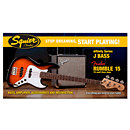 SquierStop Dreaming Start Playing Affinity Jazz Bass Fender Rumble 15 Brown Sunburst