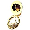 YamahaYSH 411 Sousaphone Métal, verni, en housse