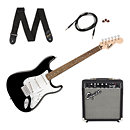 SquierStratocaster Pack Black 10G
