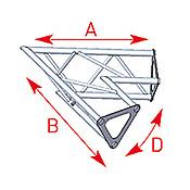 ASD57ASD1521 / Angle 2 départs 60°  lg 0m40 x 0m40