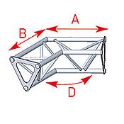 ASD57ASD1524 / Angle 2 départs 120°  lg 0m25 x 0m25