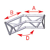 ASD57ASD1525 / Angle 2 départs 135° lg 0m25 x 0m25