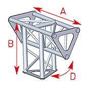 ASD57ASD1534 / Angle vertical 3 départs 90° lg 0m25 x 0m35