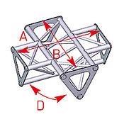 ASD57ASD1541 / Angle 4 départs 90° lg 0m35 x 0m35