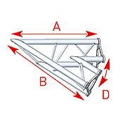 ASD57ASD20 / Angle 2 départs 45°  lg 0m80 x 0m80