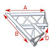 ASD57ASD21 / Angle 2 départs 60°  lg 0m80 x 0m80