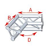 ASD57ASD24 / Angle 2 départs 120°  lg 0m40 x 0m40
