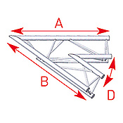 ASD57ASX20 / Angle 2 départs 45°  lg 1m00 x 1m00
